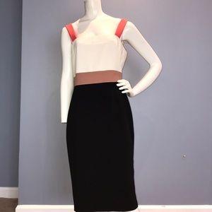 Raoul Colorblock Tank Dress with back zipper